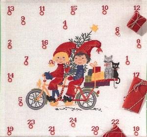 kerstkabouters op de fiets