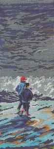 Twee kinderen aan het strand