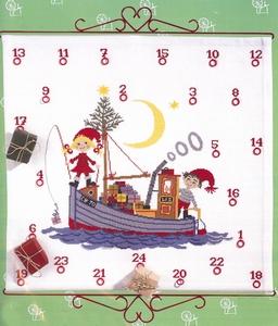 Kerstkabouters op de boot