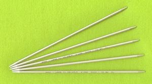 Breinaalden zonder knop (metaal/kunststof) 20 cm
