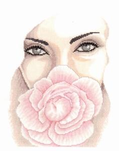 Gezicht met roos