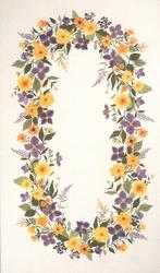 Tafelkleed  Clematis en dahlia