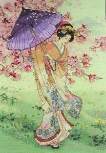 geisha met parasol