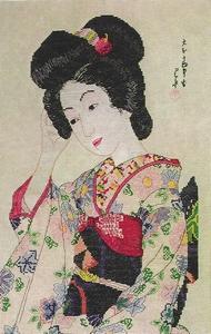 zittende Geisha