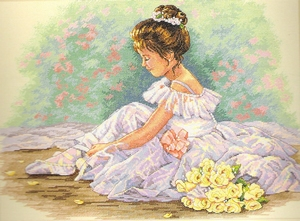 Balletdanseresje met bloemen