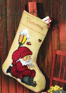 Kerstsok kabouter met lantaarn