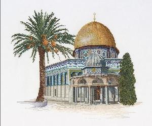 Moskee met gouden koepel