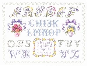Alfabet met twee vazen