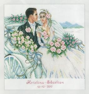 Bruidspaar in koets