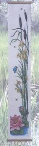 Schellekoord met ijsvogel en waterbloemen