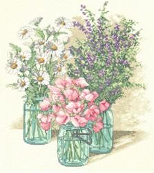 Drie bloemenvazen