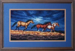 Paarden in de storm